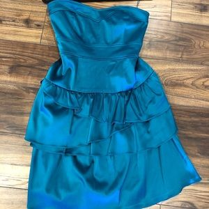 Gorgeous teal strapless dress from Nordstrom's